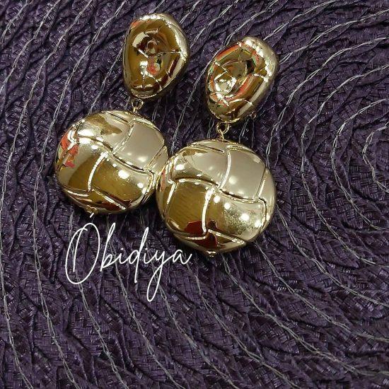 18k brazillian gold inspired earrings